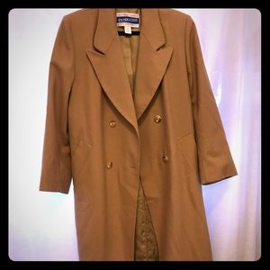 Women's virgin wool trench coat